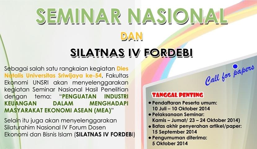 """Call for Paper Seminar Nasional  """"Penguatan Industri Keuangan dalam Menghadapi Masyarakat Ekonomi ASEAN (MEA) 2015"""""""
