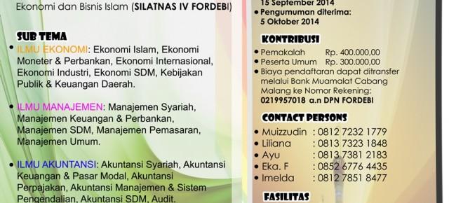 Seminar Nasional dan SILATNAS IV FORDEBI - Universitas Sriwijaya