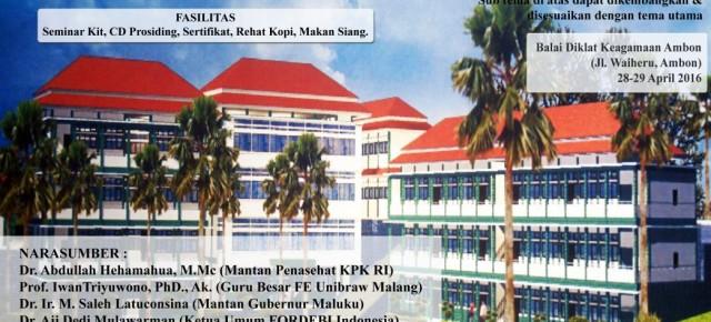 Undangan: Seminar Nasional dan Silatnas FORDEBI V